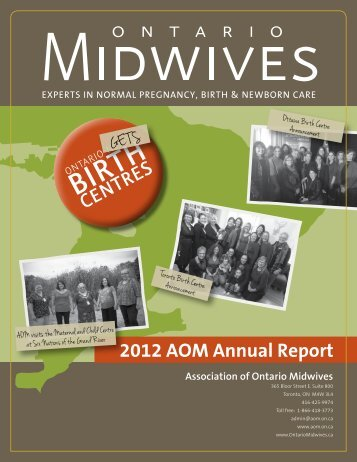 2012 AOM Annual Report - Ontario Midwives