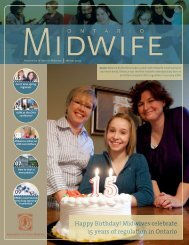 Winter 2009 - Association of Ontario Midwives