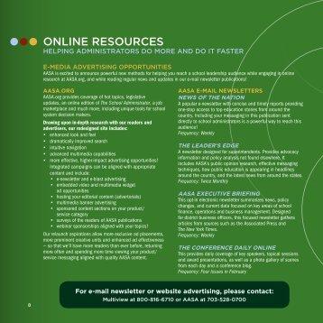 online resources - American Association of School Administrators