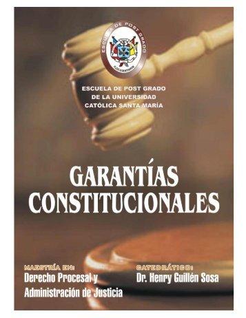 Garantías Constitucionales - Universidad Católica de Santa María