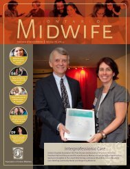 Fall 2010 - Association of Ontario Midwives