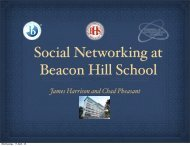Social Networking at BHS - Beacon Hill School