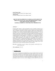 recent developments in judicial settlement of disputes involving ...