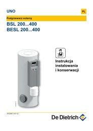 Instrukcja Techniczna BSL, BESL - De Dietrich