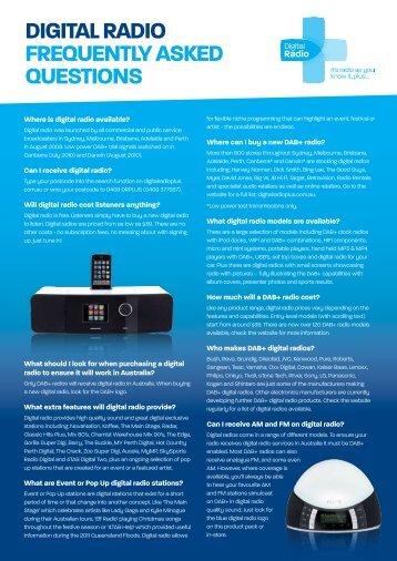 digital radio frequently asked questions - Digital Radio Plus