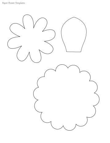 crepe paper flower aisle markers templates petals cut fold