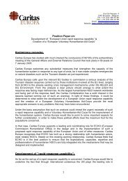 Position Paper on: - Caritas-Europa