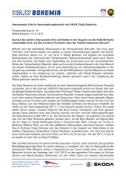 Pressemitteilung Nr. 10 - Rally Bohemia