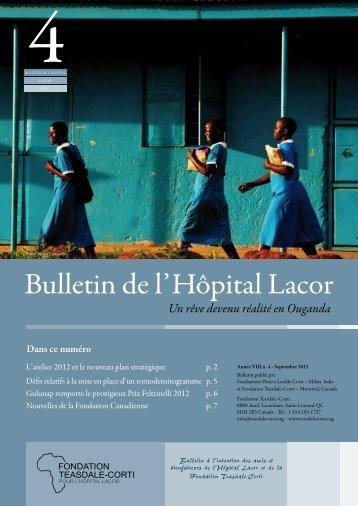 Bulletin du Lacor 4 2012.pdf - Fondazione Corti