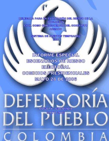 Descargar informe de riesgo - Defensoría del Pueblo