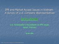 A Survey of U.S. Company Representatives - US-Vietnam Trade ...