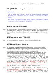 119. § 30 VOB/A - Vergabevermerk - Oeffentliche Auftraege