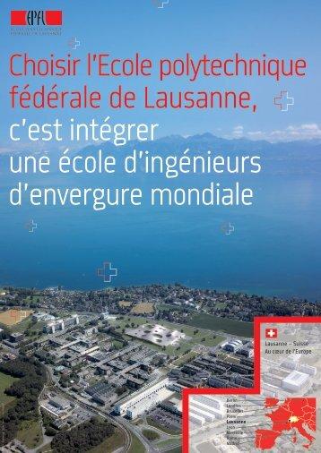 Choisir l'Ecole polytechnique fédérale de Lausanne, c ... - L'Etudiant