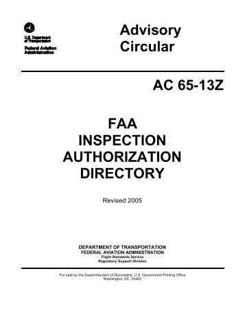 Advisory Circular AC 65-13Z FAA INSPECTION ... - Rgl - FAA
