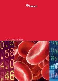 Geschäftsbericht 2012 (PDF) - BB Biotech