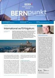 BERNpunkt Energie - Wirtschaftsraum Bern