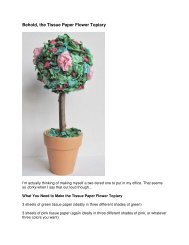 Behold, the Tissue Paper Flower Topiary