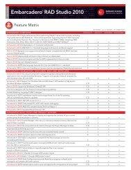 Delphi Features Matrix - Embarcadero