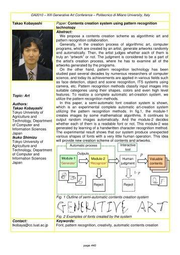 Takao Kobayashi Paper: Contents creation system ... - Generative Art