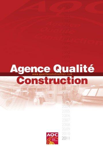 AQC - Historique - Version 2011 - Agence Qualité Construction