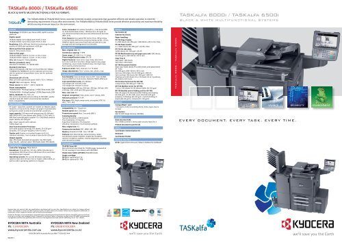 Kyocera TASKalfa 8000i MFP KPDL Drivers for Windows 7