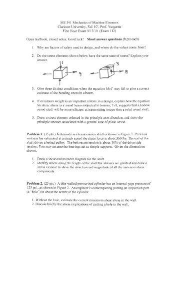 exam091710 - Clarkson University