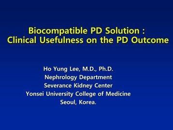 Biocompatibility of Peritoneal Dialysis Solutions - APCN 2010