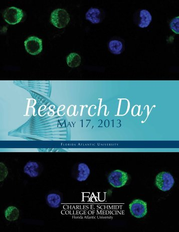 Research Day Book 2013 - College of Medicine - Florida Atlantic ...