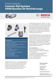 CRSN Baseline - Bosch Automotive Technology