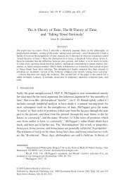 The A-Theory of Time, The B-Theory of Time, and - Wiley Online ...