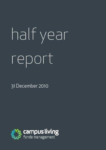 31 December 2010 - Campus Living Villages