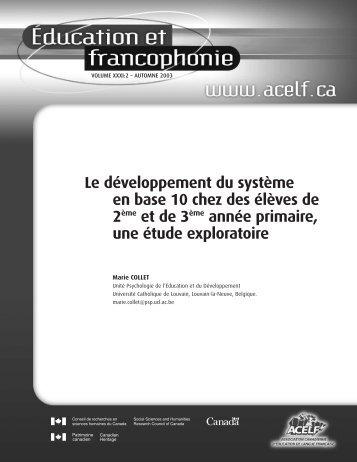 Article complet (pdf) - acelf