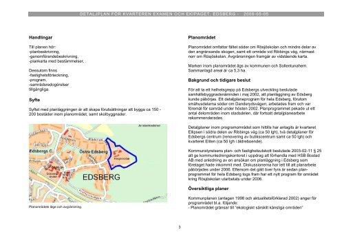 Planbeskrivning - Sollentuna kommun