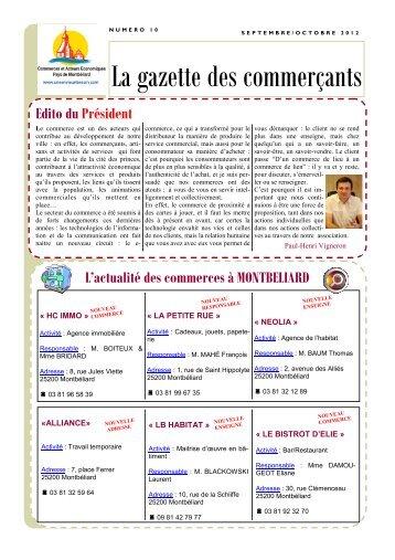 Télécharger la gazette mensuelle - Montbéliard
