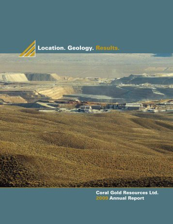 2008 Annual Report - Coral Gold Resources Ltd.