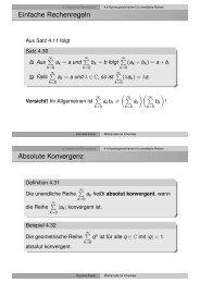 4.4 Konvergenzkriterien für unendliche Reihen