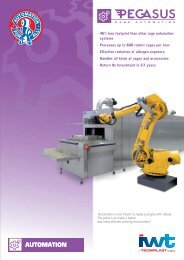 • 45% less footprint than other cage automation ... - Sapaco 2000
