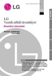 LG vezeték nélküli távszabályzó