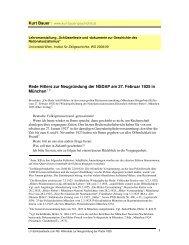 Rede Hitlers zur Neugründung der NSDAP am 27. Februar 1925 in ...