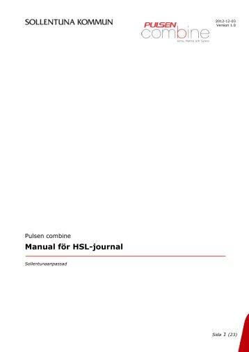 Manual för HSL-journal - Sollentuna kommun