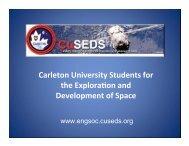 Introductory Presentation - CuSEDS - EngSoc