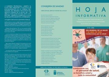 Hoja Informativa. El servicio Canario de la Salud comunica a los ...