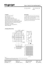 Package Dimensions 30mm (1.2 INCH) 5x7 DOT MATRIX DISPLAY ...