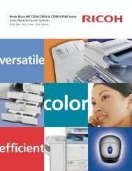 Ricoh Aficio MP C2500/C3000 & C3500/C4500 Series