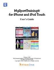 MySportTraining® For iPhone And IPod Touch - VidaOne!