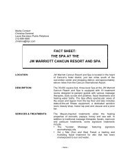 Spa Fact Sheet - Paradise By Marriott