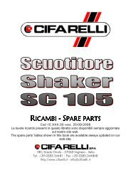 RICAMBI - SPARE PARTS - Cifarelli SpA