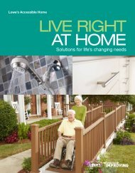 Live Right at Home - Lowe's