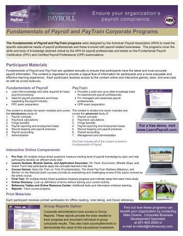 FPC Fundamental Payroll Certification Practice Test