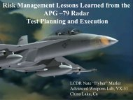 Risk Management Lessons Learned from the APG –79 Radar Test ...